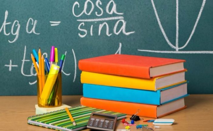 back to school supplies - pencils, notebooks